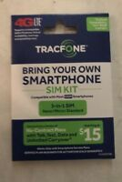 TRACFONE BYOP Bring Your Own Phone Sim Card 3/1 Kit GSM new Sale