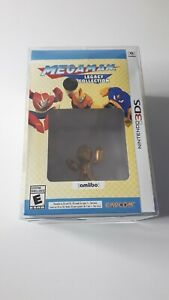 Mega Man Legacy Collection Collector's Edition 3DS Gold Amiibo in PROTECTOR NIB