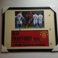 "Manchester United Hand Signed Marcus Rashford Mounted  16""x20"" with COA."