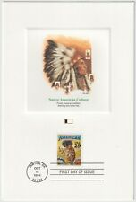 1994 USA FDC - Native American Culture - Fleetwood Proofcard - 29 Cent Stamp