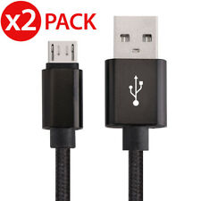 2x Micro USB Charger Sync Data Cable Braided For Samsung Galaxy S7 S6 S4 Note 5