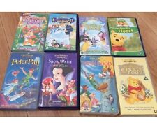 Disney VHS Movies Snow White Peter Pan Sleeping Beauty Cinderella II
