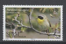 Bird Paruline Masquee mnh stamp 2017 Saint Pierre & Miquelon