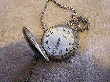 Vintage Andre Rivale Pocket Watch Dog on Case
