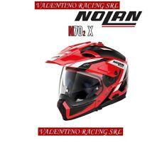 CASCO NOLAN N 70 2 X MOTO CROSSOVER GRANDES ALPES N COM 028 ROSSO TG. M