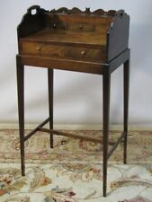 Scarce Early 19th Century Antique English Mahogany Writing Caddy Removable Stand