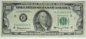 1963 A HUNDRED DOLLAR $100 BILL FEDERAL RESERVE ST. LOUIS