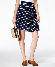 Maison Jules Striped Circle Skirt Navy White NWT size Small