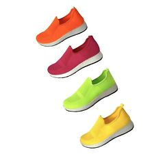 Womens Slip On Running Sneakers Loafers Flats Casual Tennis Walking Shoes NEW