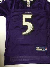 REEBOK NFL BALTIMORE RAVENS JOE FLACCO #5 YOUTH M 10-12 PURPLE JERSEY