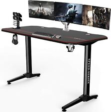 "55""Large Gaming Desk Home Office Computer Table w/Cup Controller Headset Holder"
