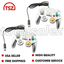 2 For Nintendo Game Cube Grey Controller Joy Stick Pad Remote Video System