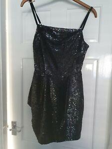 All Saints Velutina Sequin / Embellished / Strappy Dress - UK Size 10