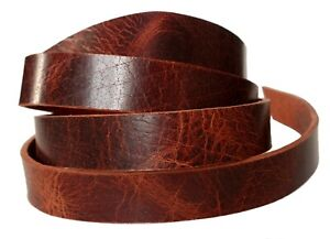 Water Buffalo Leather Strips Brown 8-9oz thick Belts Dog Collar 48 inches long