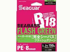 KUREHA SEAGUAR R18 KANZEN SEABASS FLASH GREEN 150m 22lb #1.2