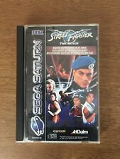 Sega Saturn Street Fighter The Movie Capcom Rare Boxed Instructions Tested