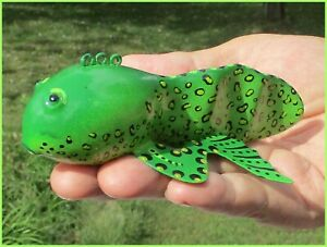 Ice Fishing Decoy Tadpole  Frog  Hand-carved Folk Art by Phillip Cates