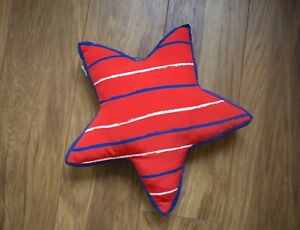 Star Cushion Red Purple Blue White Stripy Pillow with Pad Boys Bedroom Nursery