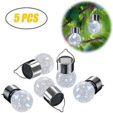 5X Warmweiß LED Solarkugel Gartenlampe Kugelleuchte Leuchtkugel für Garten Hänge