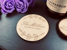 Personalised Engraved Wooden Coaster - Any Shape And Engraving