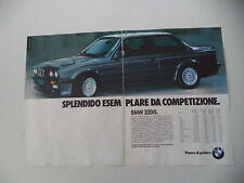 advertising Pubblicità 1987 BMW 320 IS