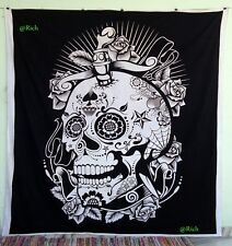 skull head tapestry Indian Mandala wall hanging queen bedspread Ghost Decor