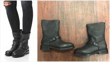 NIB Rag & Bone Oliver Moto Black Buckle Ankle Boots Sz. EUR 36 US 6