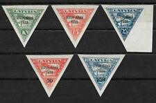 """Lettland """"Flugpost Lettland-Afrika 1933 Mi.Nr 220-224"""" Postfrisch"""