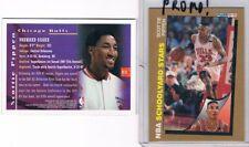 LOT 2 Scottie Pippen 1992-93 Fleer PROMO NO# + 1996 Mystery Finest #M15 UNPEELED
