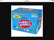"DUBBLE BUBBLE 1"" GUM BALLS 850 ASSORTED FRUIT FLAVOR CASE"