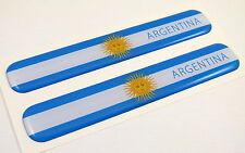 "Argentina Flag Domed Decal Emblem Resin car auto stickers 5""x 0.82"" 2pc."