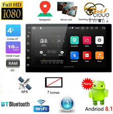 """7"""" Inch Nav Navigation Double Din WIFI Android 8.1 Car Stereo GPS Radio Player"""