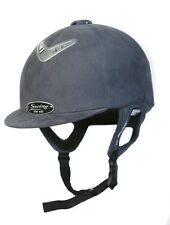 Horse Riding Hard Hat Helmet Swing Pro AIR Grey Suede Size 55, 6 3/4, Small SALE