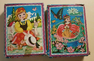 """2 Vintage Small Puzzles, 7x6"""""""
