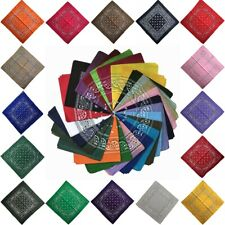 Paisley Bandanas 100% Cotton Head Wrap Scarf Double Sided Wristband Handkerchief