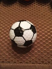 LOGO GOLF BALL-SOCCER BALL LOGO.....WHITE/BLACK BALL......COOL
