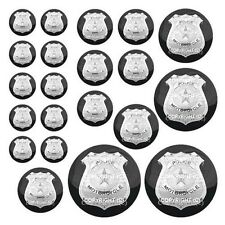 21 Premium Domed Round 3M Decal Sticker Set - POLICE BADGE - 020