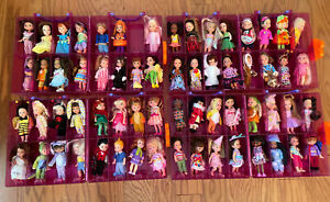 Huge Lot of 63 Barbie Kelly Club Dolls w/ 4 Cases ALL DIFFERENT
