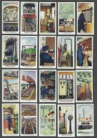 1938 Wills's Railway Equipment Tobacco Cards Complete Set of 50
