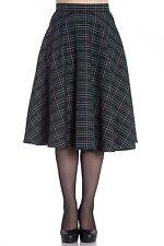 Hell Bunny Peebles Scottish Green Tartan 50s Vintage Retro Flare Swing Skirt