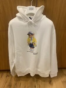 Polo Ralph Lauren Polo Bear Hoodie Size Small White '93 RRP £175