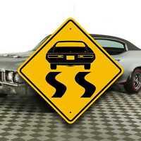 Buick GS '71 - Muscle Car Sign - Skylark Burning Rubber -Fast Speed Garage Decor
