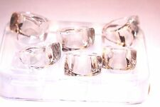Clear-silicone Ring mold. 6pc Free USA Shipping. (A50) Handling time 3-5 days!