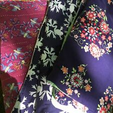 3 Handmade cotton baby quilts, contrasting lining, beautiful!