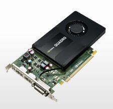 Cad Nvidia Quadro K2200 Tarjeta Gráfica 2x Displayport DVI 4GB GDDR5 Pcie 2.0