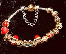 """Social Media Inspired """"All Things Emoji""""  European Charm Bracelet"""