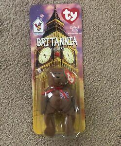 TY BEANIE BABIES BRITANNIA THE BEAR, RARE WITH TAG ERRORS!