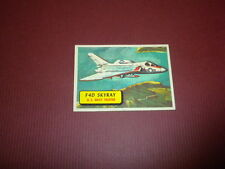 PLANES trading card #1 TOPPS 1957 Army Navy Marines Air Force PRINTED IN U.S.A