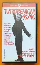 VHS Videocassetta Cecchi Gori Home Video Tuttobenigni 95/96 Roberto Benigni 1996