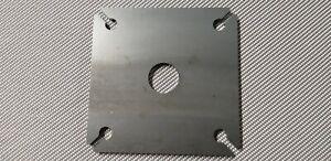 120 x 120 x 6 mm Bodenplatte, Pfostenträger, Ankerplatte, Fußplatte, Stahl S235